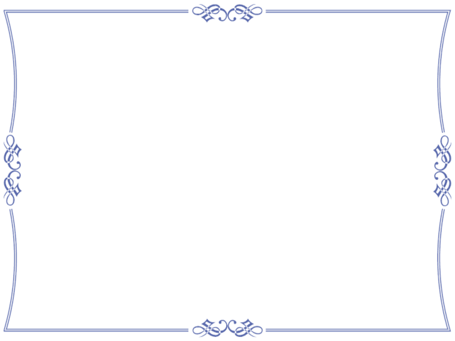 Elegant Blue Certificate Border By Bamafun Design Prints