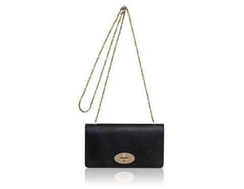 Mulberry - Bayswater Clutch Wallet in Black-Soft Gold Grainy Print Season  Colors c933aec1bd274