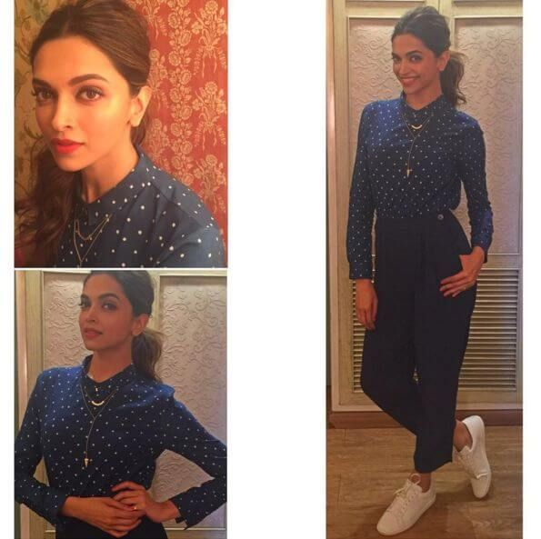 Deepika Padukone at the set of Big boss for the promotion of her film Tamasha