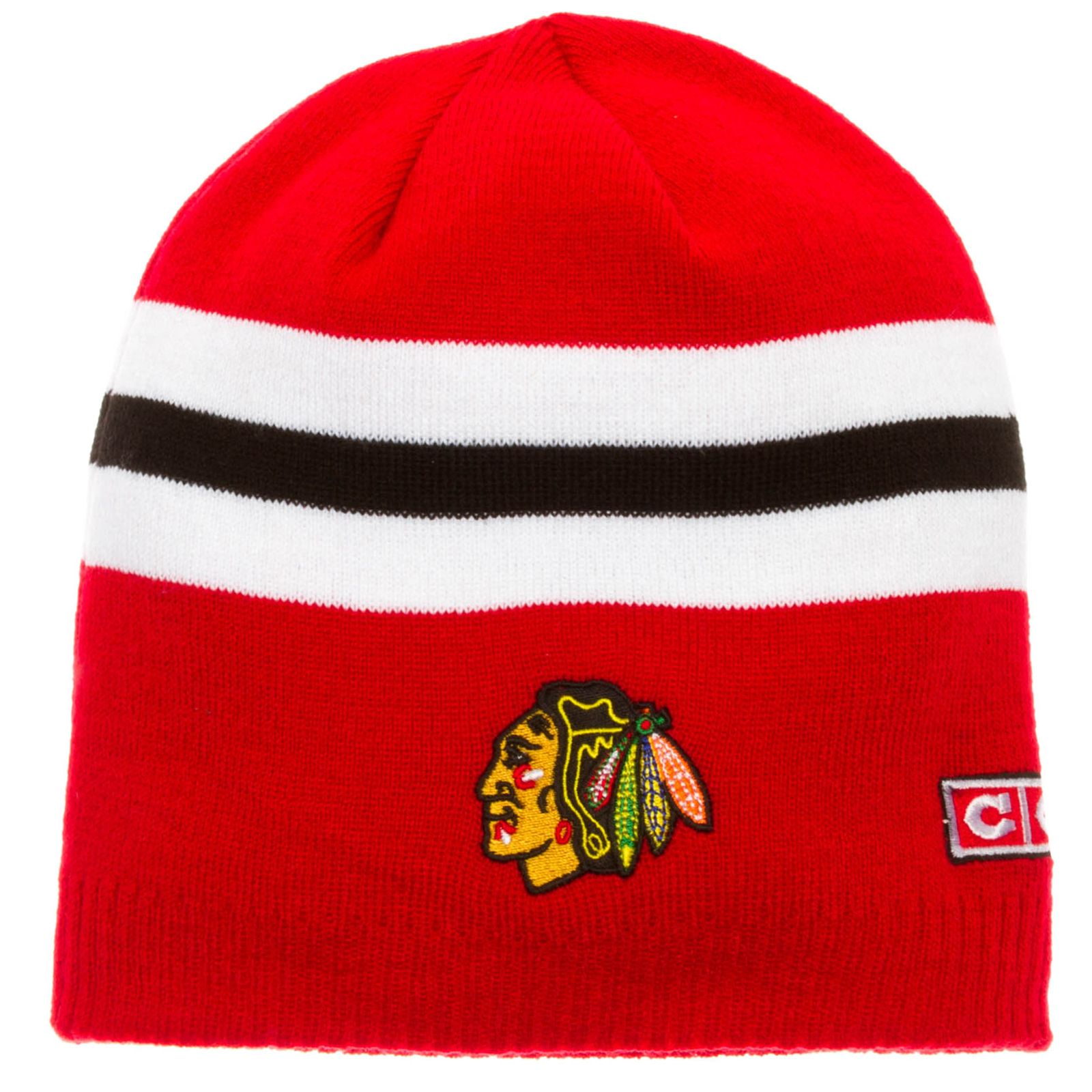 new arrival aa760 bfd3d Chicago Blackhawks Jersey Stripe Alumni Beanie by CCM  Chicago  Blackhawks   ChicagoBlackhawks