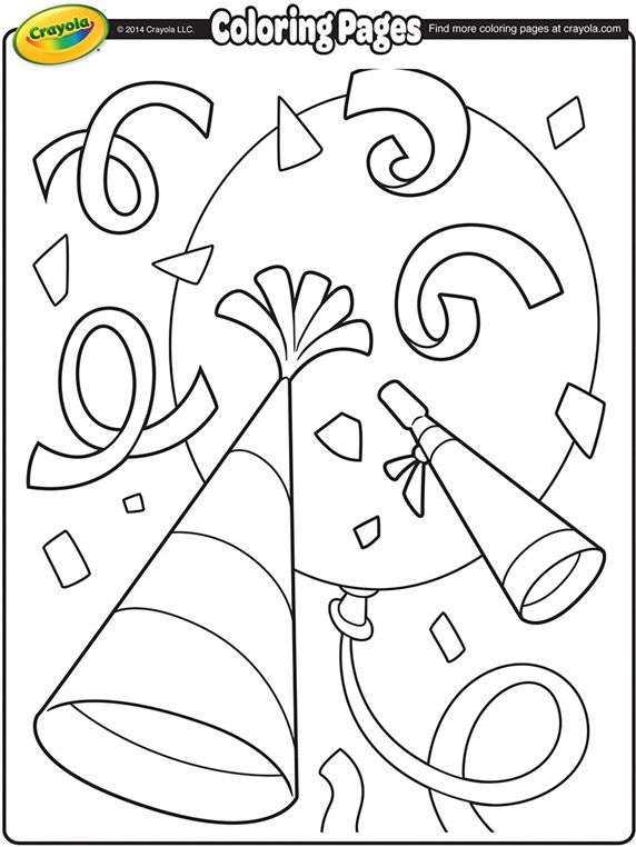 New Year\'s Confetti on crayola.com | Coloring Page\'s | Pinterest