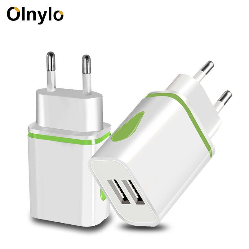 Olnylo Usb Charger Travel Fast Charging Adapter Portable Dual Wall Charger Mobile Phone Chargers For Iphone 11 Xr Samsung Xiaom In 2020 Usb Chargers Mobile Charger Usb