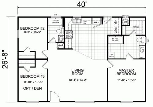 Simple Small House Floor Plans The Right Small House Floor Plan For Small Family Home De Small House Floor Plans Tiny House Floor Plans Bedroom House Plans