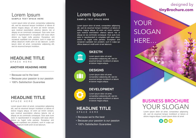 Tinyppt Smart Art Infographic Brochure Newspaper Template Trifold Brochure Template Brochure Template Travel Brochure Template
