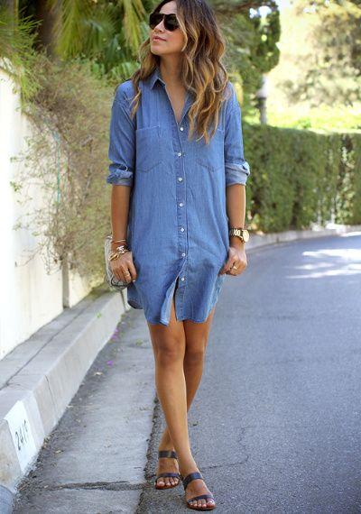 310a07bc8ed Tenue jean chemise femme