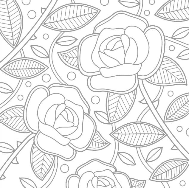 Coloriage de roses relaxant coloring pages - Coloriage relaxant ...