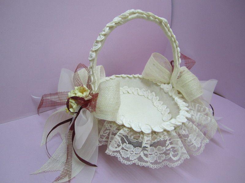 Cesta para pinchar los alfileres de regalo de la boda - Canastas de mimbre decoradas ...