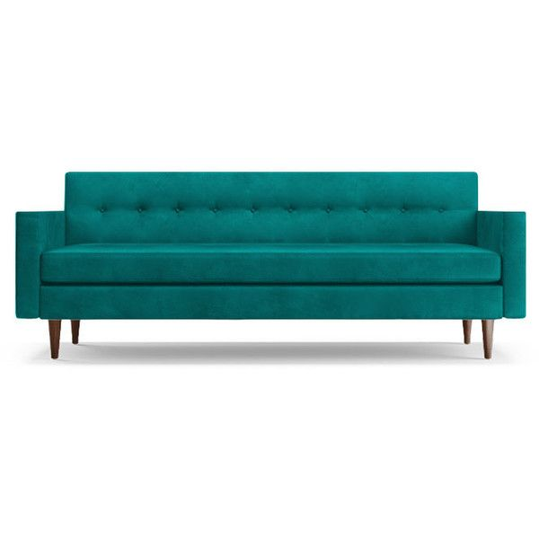 Modern Royal Blue Velvet Loveseat Marseille Blue Velvet Sofa