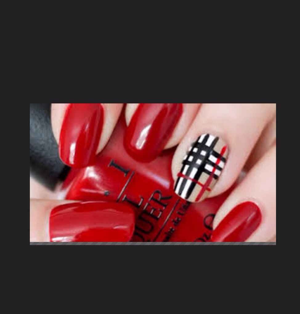 Burberry style nails nails pinterest style nails