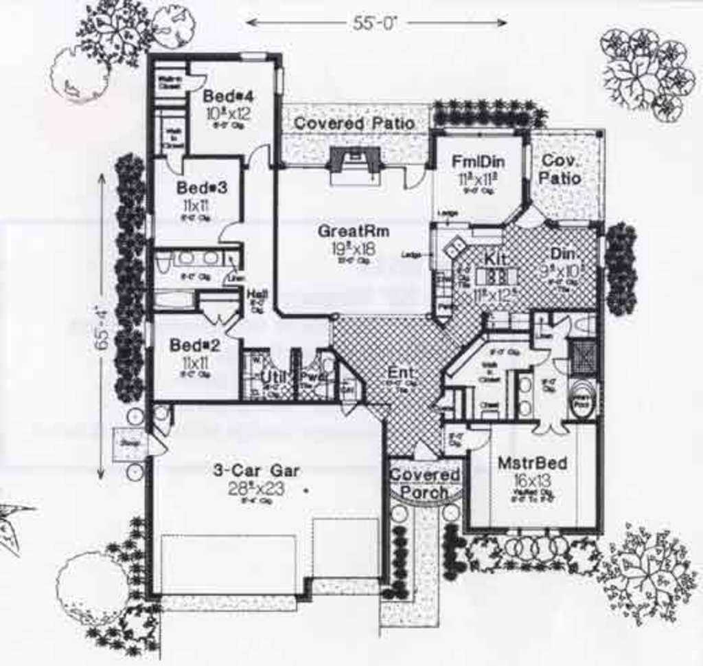 Colonial Style House Plan 4 Beds 2 5 Baths 2100 Sq Ft Plan 310 801 Floor Plan Design House Plans Colonial Style Homes