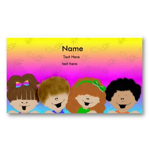 Cute kids business card business cards card templates and business cute kids business card colourmoves Gallery