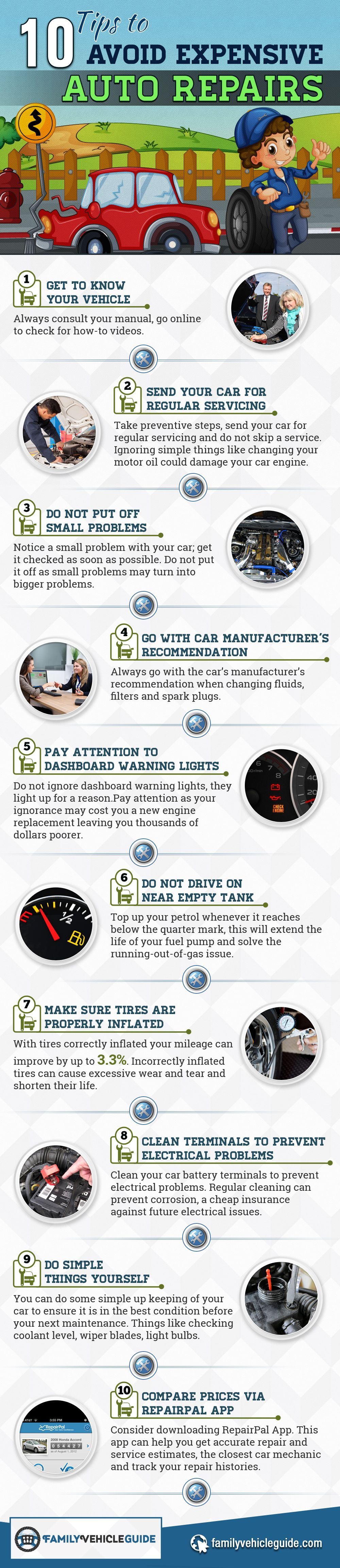 10 Tips to Avoid Expensive Auto Repairs
