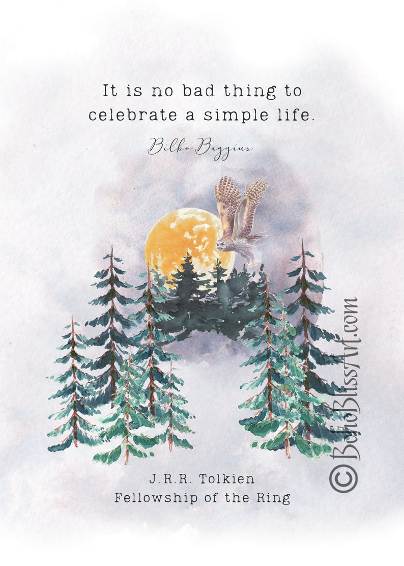 JRR Tolkien Quote: It is no bad thing to celebrate