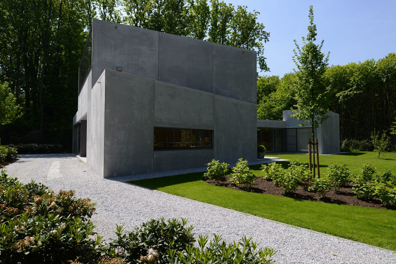 A Modern Home In Concrete Timber And Glass Take Two