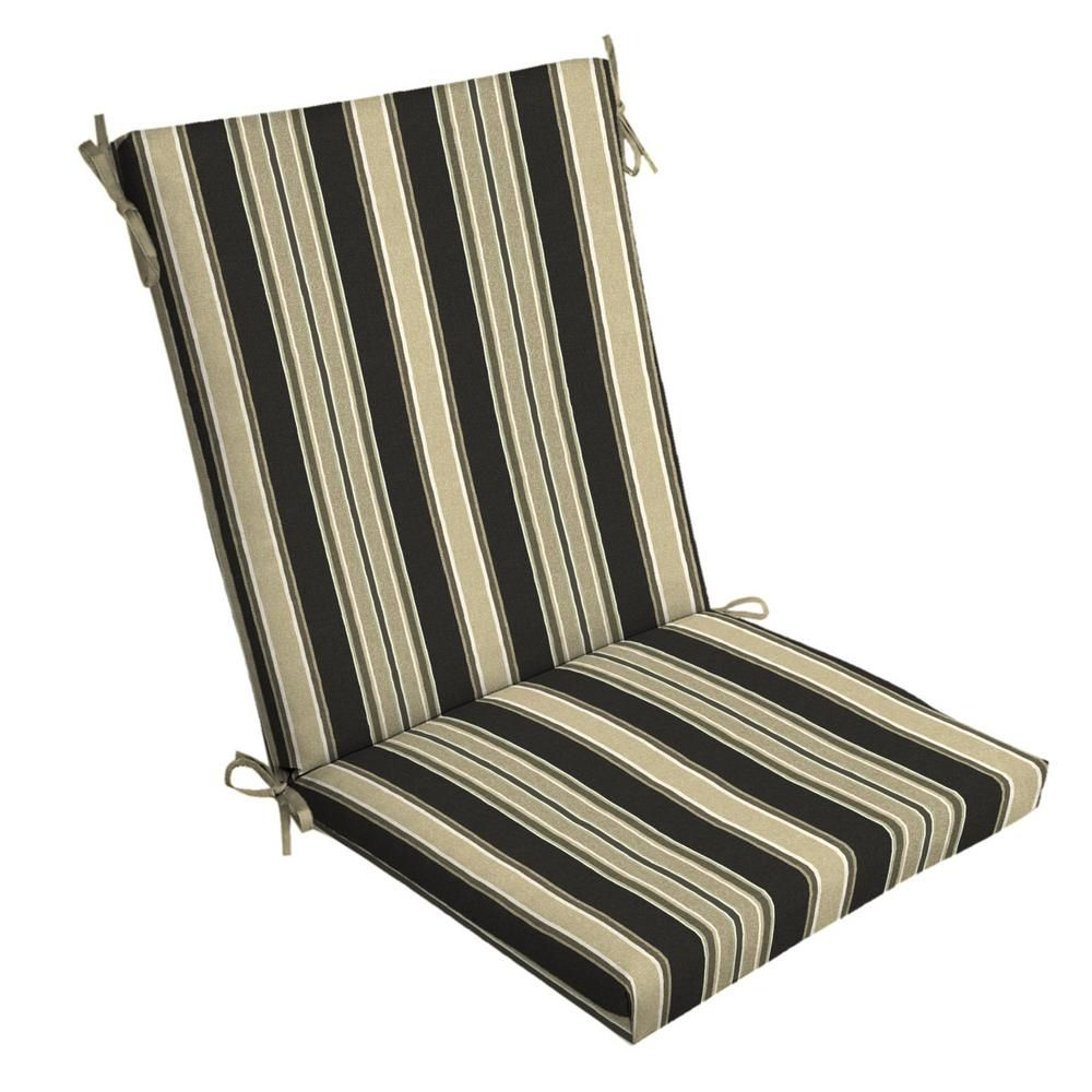 Selections By Arden Sandstone Aurora Stripe Outdoor Dining Chair Cushion