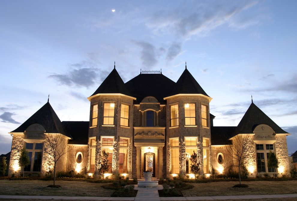 Symmetrical French château luxury mansion Architecture ...