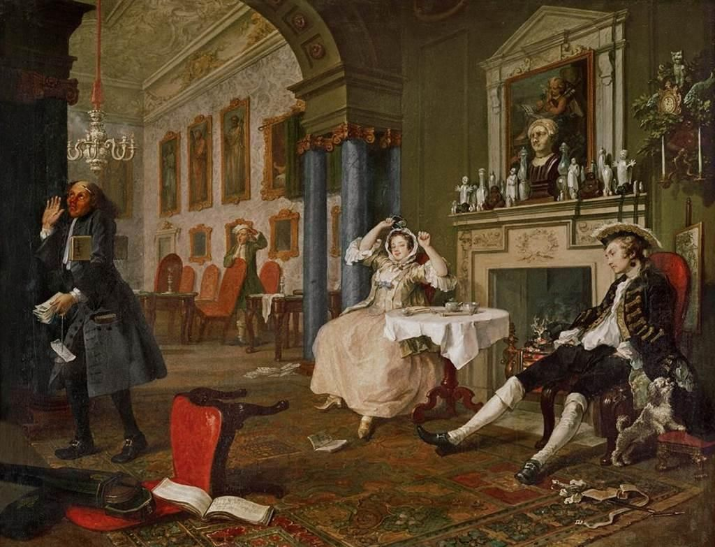 William Hogarth Marriage A La Mode 1743 45 William Hogarth