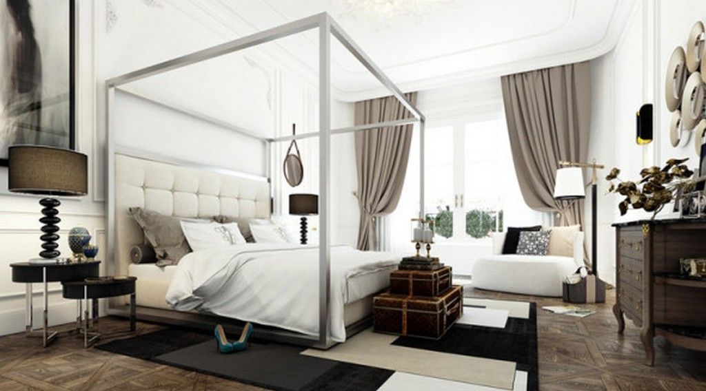 Bedroom: Extra High Headboard For Canopy Beds Queen With Elegant Curtains And Classic Decoration Ideas, High Headboard Bed Plans, Modern King Headboard ~ EastsideHomeLink.com