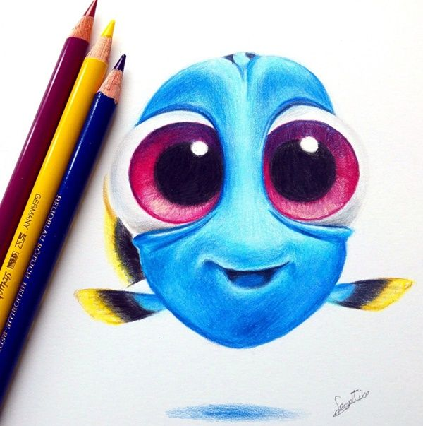 40 creative and simple color pencil drawings ideas - Colored Drawings