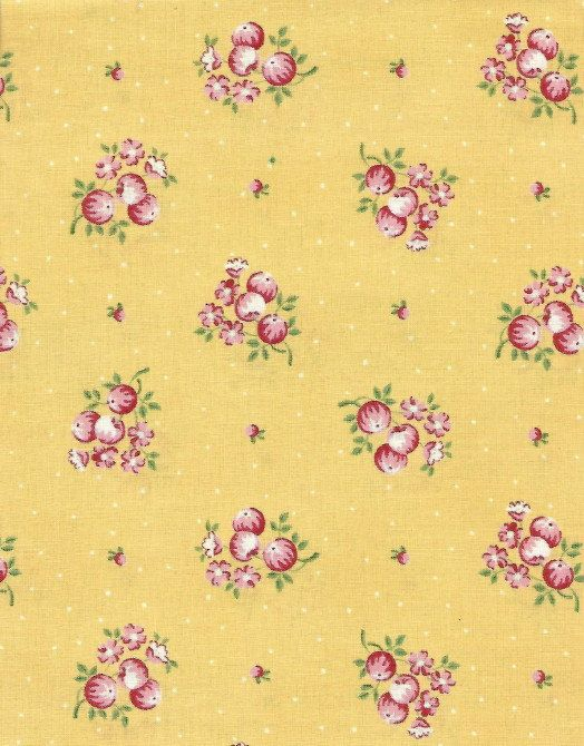 Quilt Fabric French Country Inn Cabbage Rose Pretty Rare 58 Yard