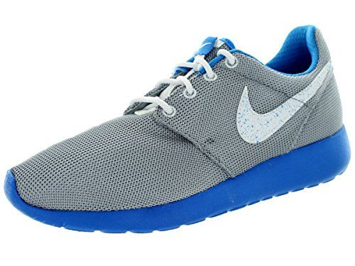 71ab9c25c4c3 Nike Kids Rosherun (GS) Wolf Grey White Pht Blue White Running Shoe ...