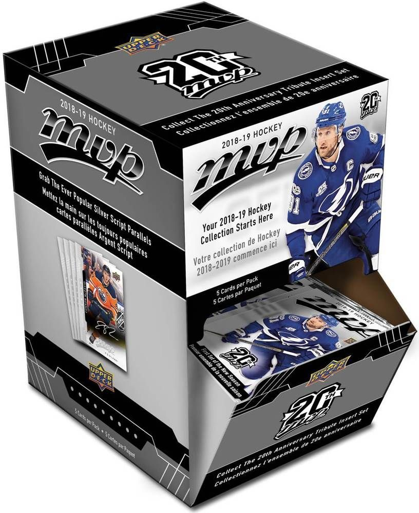2018 19 Upper Deck Mvp Nhl Hockey Trading Cards New 36pk Gravity Feed Box Fs Hockey Trades Upper Deck Trading Cards