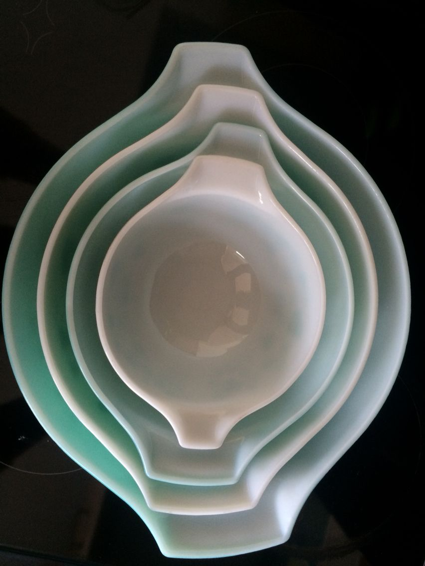 Pyrex gooseberry Cinderella bowls - turquoise JAJ
