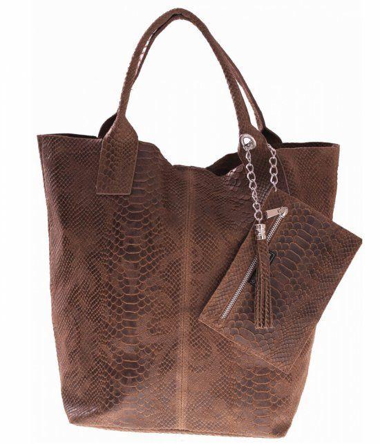 7cd751c629a78 Włoskie Torebki skórzane typu Shopper bag Ziemia   Rzeczy do noszenia