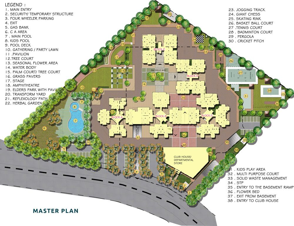 Amenities Facilities Everyone Looks For A Healthy And Lively Environment We At Commune Provide One And All Starting From S Commune Campus Design Site Plan