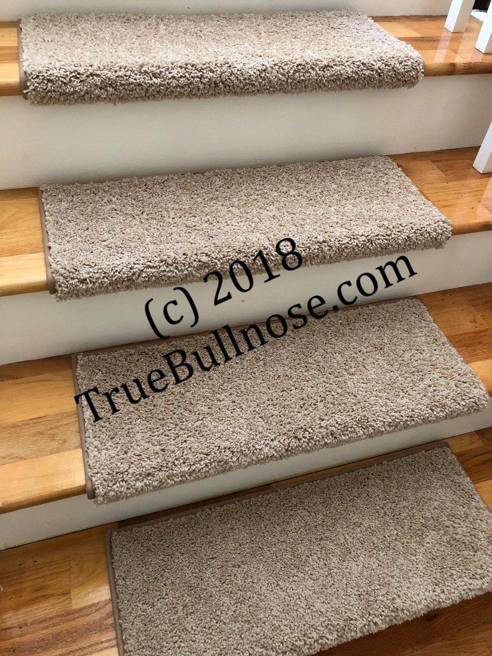 Best Almond True Bullnose™ Padded Carpet Stair Tread Sold Each 400 x 300