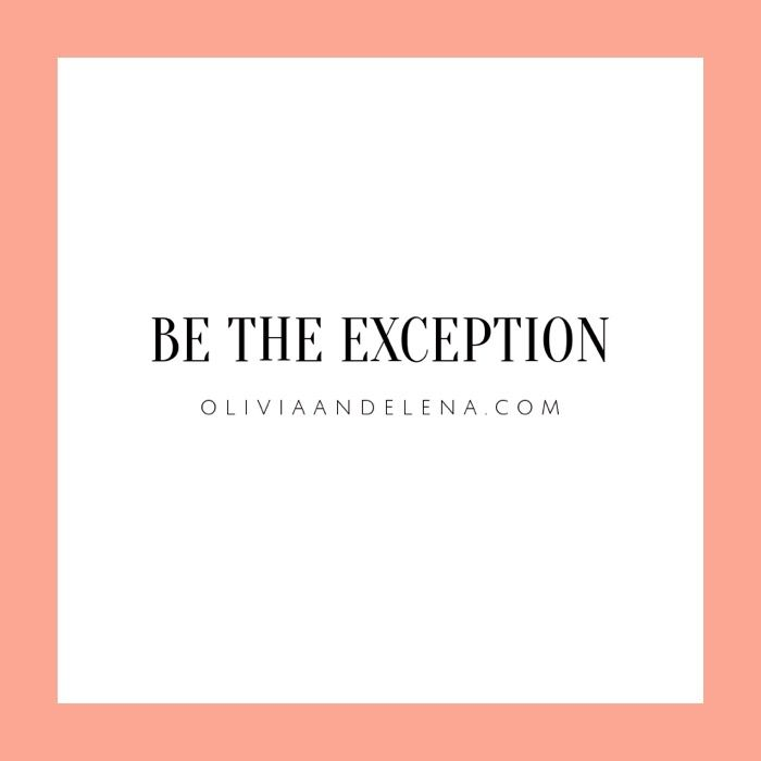 Be the exception with your Olivia \ Elena bag #Quote Wisdom - Branding Quotation