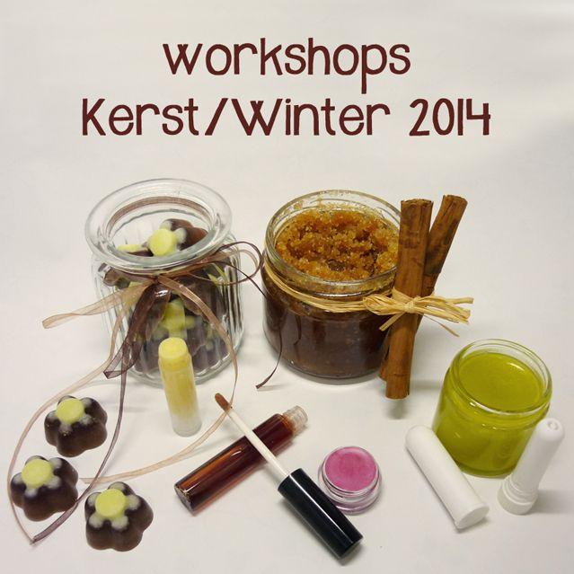 {event} Kerst- en Winterworkshops. Workshop 1: Badpralines en suikerscrub, workshop 2: Vaporub en neusstick, workshop 3: Lippenbalsems- en gloss. Allemaal 100% natuurlijk uiteraard. Leer dit zelf maken!