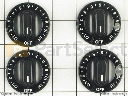 Electric Burner Control Knobs