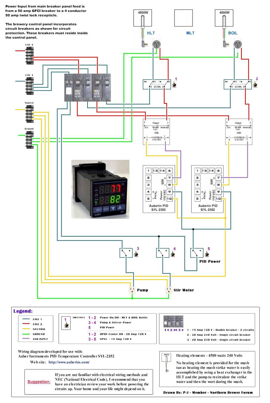 hight resolution of auberin pid to pannel wiring for eherms