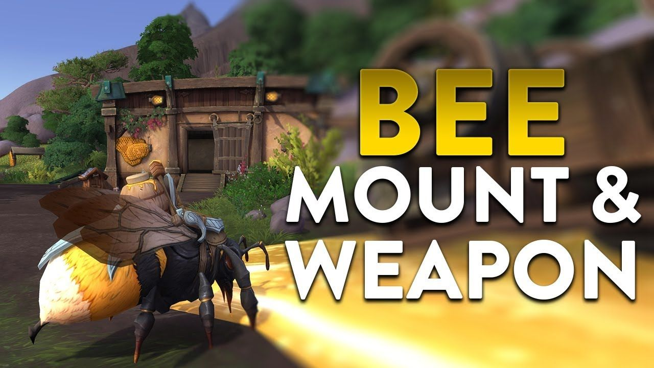New BfA Bee Mount & Weapon Mog! #worldofwarcraft #blizzard