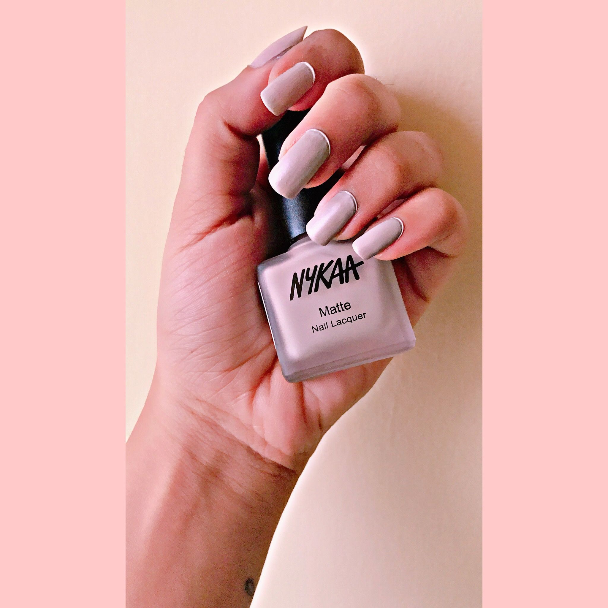 On My Nails Nykaa Matte Nail Lacquer In The Shade S Mores Milkshake 29
