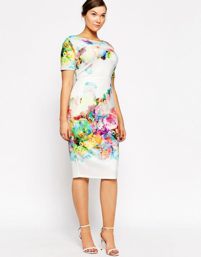 f3bca34bb060 Fabulous Bridal Shower Dresses to Wear if You re the Bride! Watercolor  print dress for bridal shower from ASOS