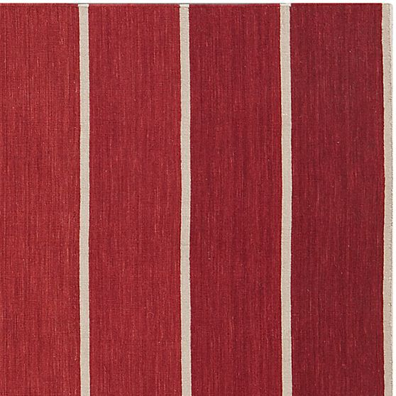 Bold Red Striped Wool Blend Rug Crate And Barrel Dining Room