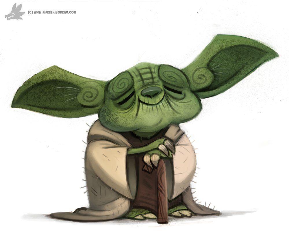 Yoda Character Design : Daily painting yoda piper thibodeau on artstation