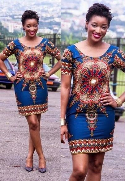 Simple Ankara Short Gown Woman Dresses African Fashion African