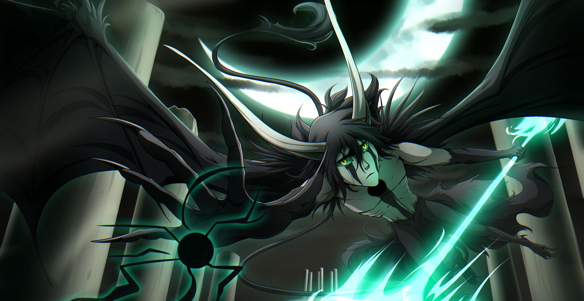 Ulquiorra Schiffer Cero Oscuras Lanza Del Relampago Ulquiorra Cifer Is Amazing Hd Wallpapers For Desktop Or Mobile In 2020 Anime Amazing Hd Wallpapers Cool Drawings