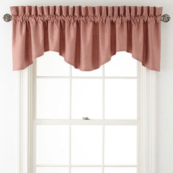 Window Treatment jcpenney valances window treatments : Royal Velvet Supreme rod-pocket scalloped valance, dusty copper ...