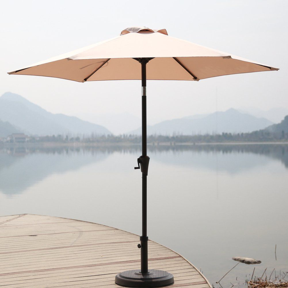 C Hopetree 7 5 Outdoor Patio Umbrella Small Market Table With