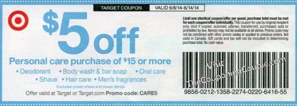 *****4 HOT MONEYMAKER Scenarios (+ one other Awesome Deal) using the Target $5 off $15 Personal Care Coupon starting on 6/8****  Click the link below to get all of the details ► http://www.thecouponingcouple.com/5-great-scenarios-for-the-target-5-off-15-4-moneymakers/