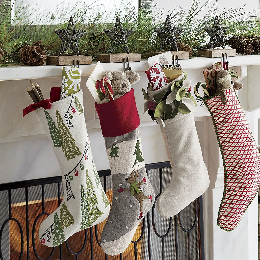 Free Shipping.  Shop Mistletoe White Felt Christmas Stocking.  Felt appliqués top off the cuff of this stylish white felt Christmas stocking with a profusion of dimensional mistletoe leaves and berries.