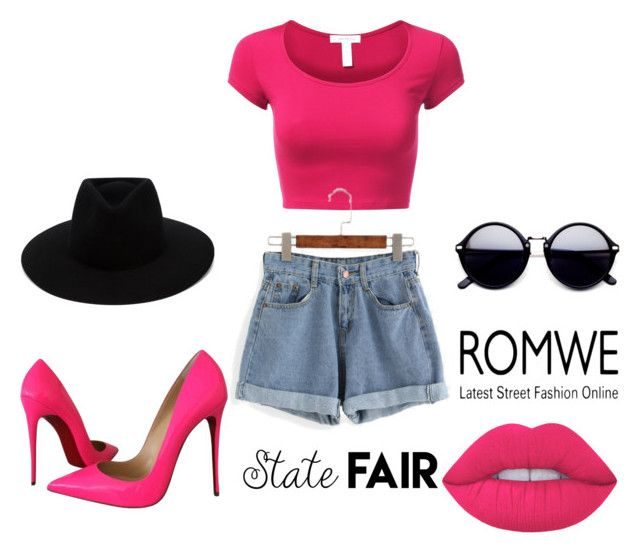 """""""Romwe"""" by melikaaaaa ❤ liked on Polyvore featuring Christian Louboutin, rag & bone and Lime Crime"""