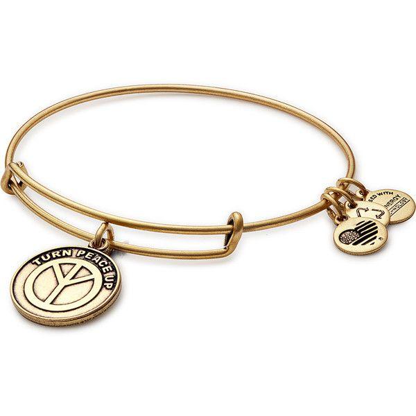 Turn Peace Up Charm Bracelet Alex And Ani 17 Liked On Polyvore Featuring Jewelry Bracelets Peace Sign Charm B Peace Jewelry Bracelets Symbolic Jewelry