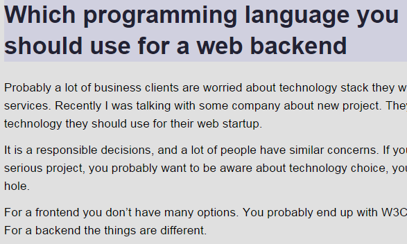 Which programming language you should use for web backend ... on