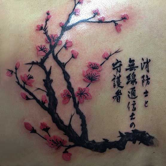 In Japanese Culture These Cherry Blossom Tattoo Have Meaning As A
