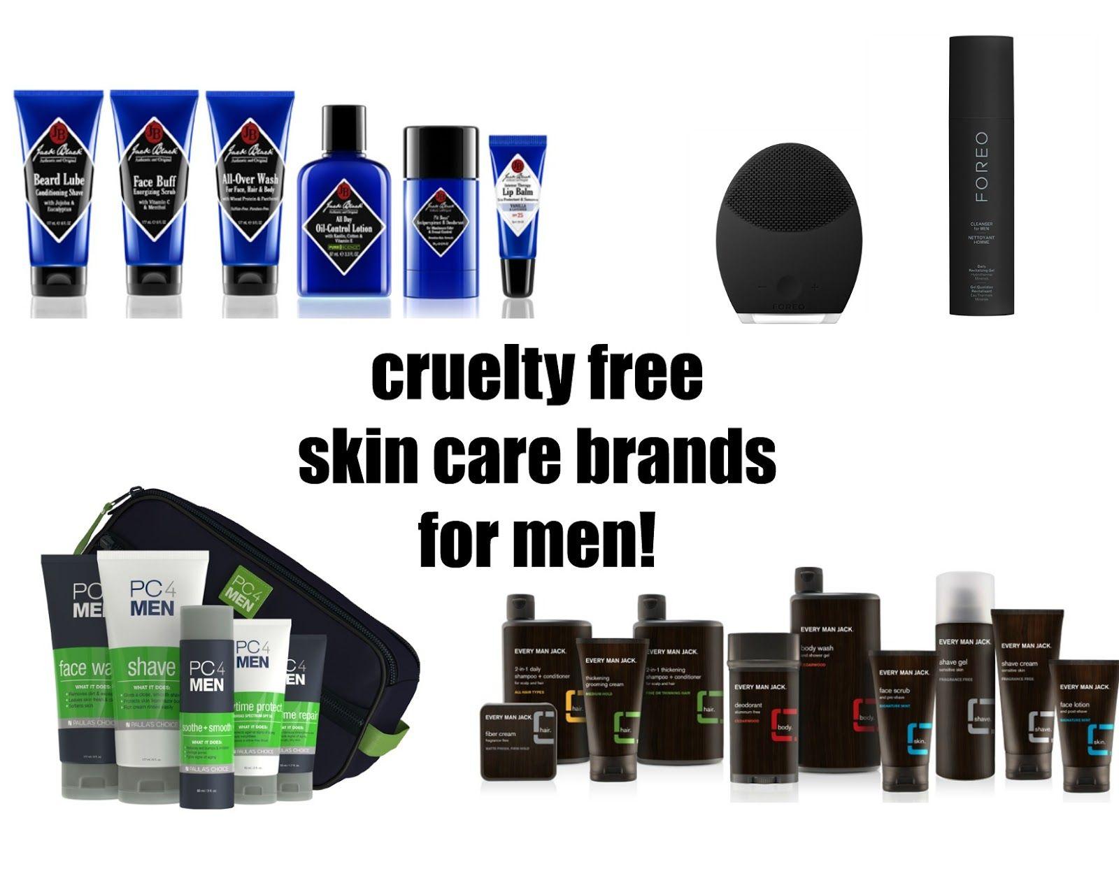 Cruelty Free Skin Care brands for men! Beauty4Free2U